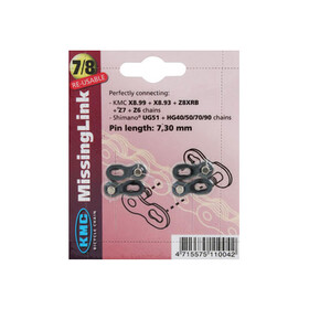 KMC CL-573 R Misslink Catena 7,3-7,8mm argento